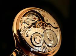 Mega Rare Antique Railroad 16s 21j Hamilton 922 Pocket Watch Salesman Case Mint