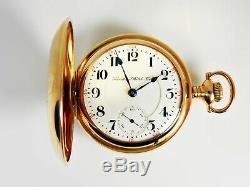 Mega Rare Antique Railroad 18s 21j Hamilton 941 Gold Pocket Watch Mint Serviced