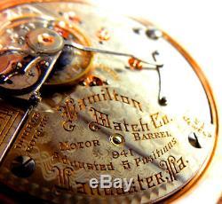 Mega Rare Antique Railroad 18s 21j Hamilton 941 Pocket Watch Serviced Mint