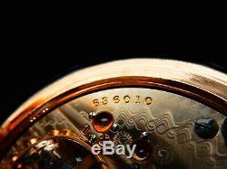 Mega Rare Antique Railroad 21J 18s Hamilton 941 Fully Marked Gold Pocket Watch