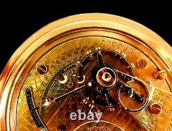 Mega Rare Antique Railroad 21J 18s Hamilton 942 3-Tone Gold Pocket Watch