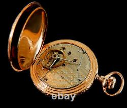 Mega Rare Antique Railroad 21J 18s Hamilton Fully Signed 941 Gold Pocket Watch