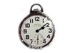 Mega Rare Antique Railroad 21j Hamilton 992B Pocket Watch. Mint. Serviced