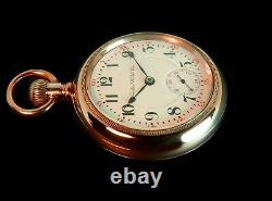 Mega Rare Mint Antique Railroad 18s Hamilton 944 2-Tone Gold Pocket Watch