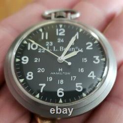 Mens Vintage L. L. Bean/Hamilton Pocket Watch model 916580 running great