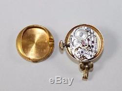 Mid-Century 14k Gold Hamilton Nurses Lapel Pendant Watch Women's Pocket Watch