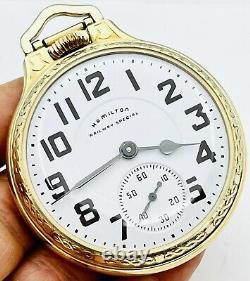 Mint 1968 Hamilton 992B 16S 21J Factory Model 17 BOC Railroad Pocket Watch