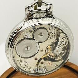Minty 1945 Hamilton 992B 16S 21J SS BOC Bar Over Crown Railroad Pocket Watch