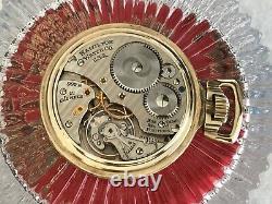 Minty STELLAR Hamilton 992B Railroad Pocket Watch 21J 16S, 24 Hour Dial C1948