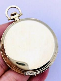 Museum WOW Hamilton 12S 23J 922 Pocket Watch Solid 14K with Original Box and Paper