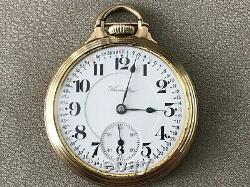 NICE HAMILTON 992, MONTGOMERY DIAL 16s. 21j. RAILROAD POCKET WATCH BOC CASE