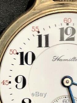 NICE Hamilton 992 Pocketwatch! 21J Adj. 10K Gold Filled BOC Case