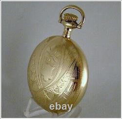 Near Museum Quality Rare Gorgeous 1900 Hamilton 18s Pocket Watch Full Hunter
