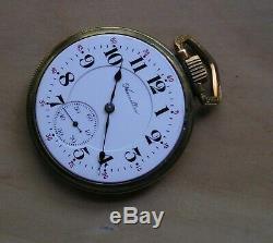 Near mint Hamilton Model 992 LS Pocket Watch Circa 1915 Runs Nice Impressive