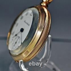 Nice 1898 Hamilton 17j 18s #926 Pocket Watch For Service/repair Free Balance