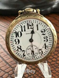Nice 1928 Hamilton 992 Railroad Grade 14k G. F. Case Pocket Watch