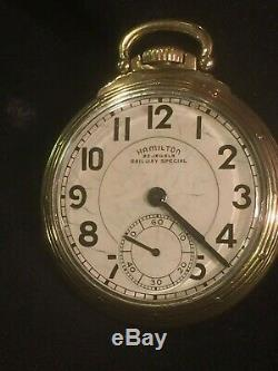 Nice Hamilton 23 Jewel 950b Model 6 Mfg. Date Is 1950 All Original