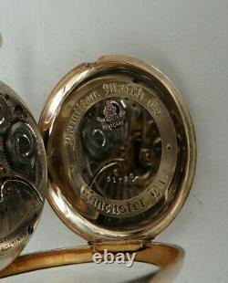 Offene Herrentaschenuhr Hamilton Goldfiled 1922 TOPZUSTAND (67962)