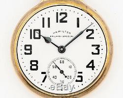 Original 1959 Hamilton 16s 21j Adj. 992B Pocket Watch with Wadsworth Case! Runs