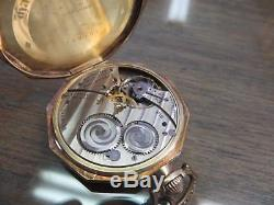 POCKET WATCH 14K GOLD Filled, VINTAGE FANCY HAMILTON, Xlnt. With Chain, Working
