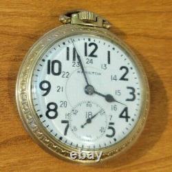 Pocket Watch Hamilton 992B 21 Jewels 10 Karat Gold Filled 16S