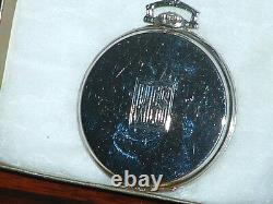 Pre-Owned 1928 Hamilton Heavy 18kt White Gold 922 Masterpiece Pocket Watch