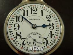 RARE 1 OF ONLY 6 Made Hamilton 14K Solid White Gold BOC #2 Wadsworth Case 992