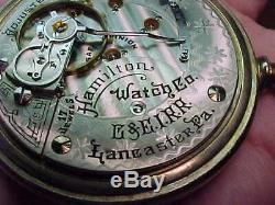 RARE 1902 CHICAGO & EASTERN ILLINOIS RAILROAD 18s HAMILTON ANTIQUE POCKET WATCH