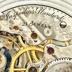 RARE 1905 Hamilton 992 Inspector Standard 16S 21J SS BOC Railroad Pocket Watch