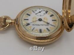 RARE Antique 1909 Hamilton 935 17J 18s Solid 14k Gold Mechanical Pocket Watch