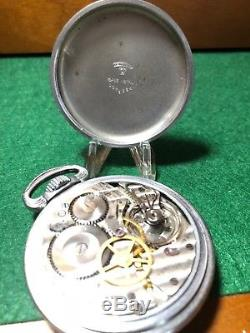 RARE G. C. T. Hamilton 4992B U. S. Military WWII 22J Mens Pocket Watch Runs