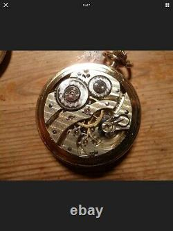 RARE Hamilton 16S 19J grade952 Model3 Adjusted Railroad Grade Pocket watch