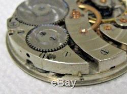 RARE Hamilton 16s 17j Grade 961/963 Pocket Watch Movement needs repair