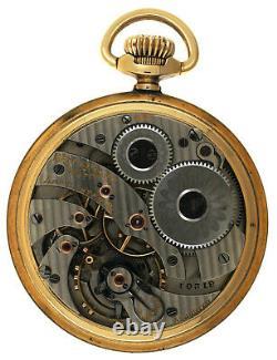 RARE Hamilton 16s 21j Grade 961 14K Gold Filled OF Pocket Watch 2 Star Railroad