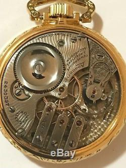 RARE Illinois G 187 16S 17J Railroad Pocket Watch Display Salesman Case Accurate