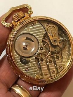 RARE Illinois G 187 16S 17J Railroad Pocket Watch Display Salesman RR Standard