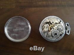 RARE Vintage 1916 17 Jewels Train Engraved Hamilton Pocket Watch