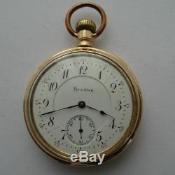 Rare 14ct Solid Gold American Hamilton 950 Railroad Grade Pocket Watch 23 Jewels