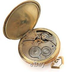 Rare 14k Presentation Hudson River Day Line 1928 Hamilton 12s 19j Pocket Watch