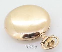 Rare 1911 Hamilton 23 Jewel 14K Solid Gold Open Faced 950 16s Pocket Watch