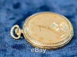 Rare 1926 Hamilton Heavy 18kt White Gold 922 Masterpiece Pocket Watch