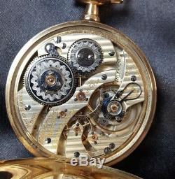 Rare All Original Hamilton 950 14K Pocket Watch Box and Papers Running 16s 23j
