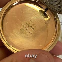Rare Ball Hamilton 21 Jewel Grade 999 16s Official Rr Standard Pocket Watch