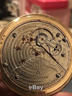 Rare Ball Hamilton 999B 17 jewel RailRoad grade size 18 pocket watch