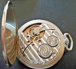 Rare Hamilton 14k WH Gold Filled pocket watch with Secometer rotating Seconds