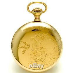 Rare Hamilton 946 Pocket Watch Ca1906 18 Size Rose Gold Filled Case, 23 Jewel