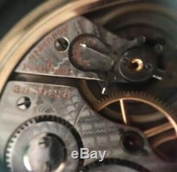 Rare Hamilton 990 Railroad Pocket Watch 10k Gold Filled Runs