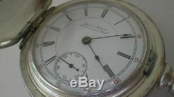 Rare Hamilton Grade 925. Extremely Rare Dial. Massive 5oz Silver Hunting Case