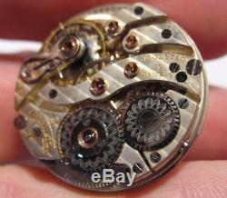 Rare Hamilton Grade 985 19 Jewel Wrist Pocket Watch Movement
