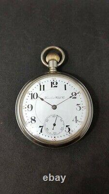 Rare Hamilton HW Wheeler Slim Bridge Pocket Watch 21j 16s Running